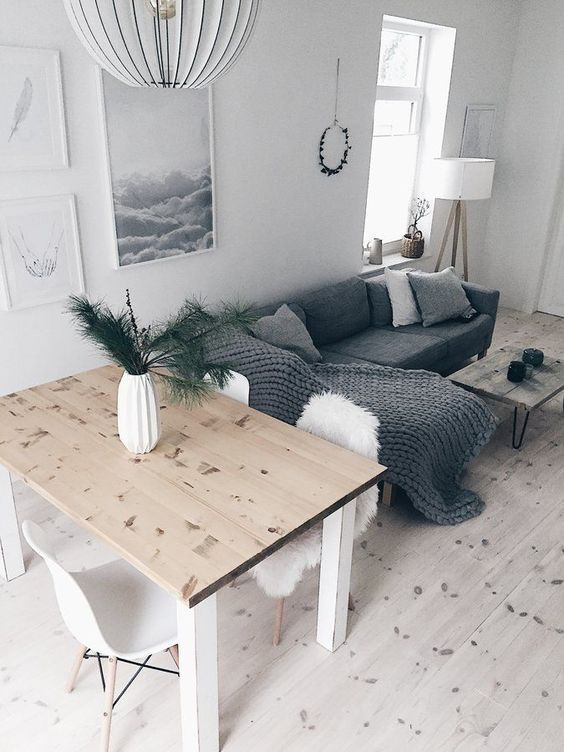 Our living room with dining area. We like it more in color uniform and the …