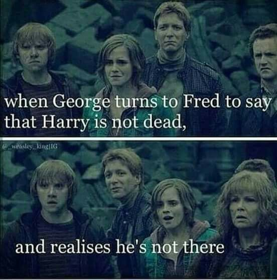 Pinterest: us_nilep I have never noticed Fred isn't in this scene. Holy poop…