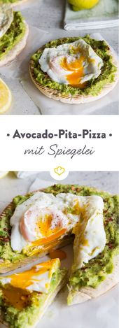 Pizza is quick and easy: without cheese, but with pita bread, fresh …