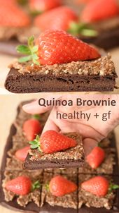 Quinoa Chocolate Brownie – 4 Ingredients