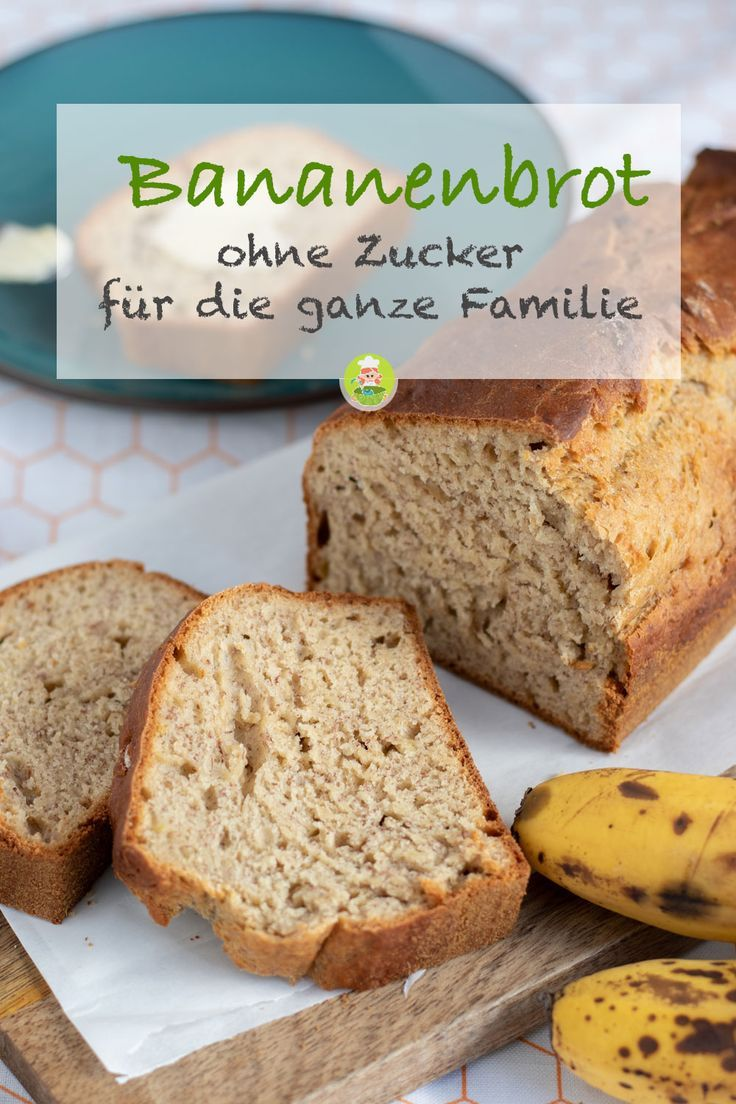 Recipe for a juicy and healthy banana bread without sugar. For the whole Fa …