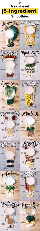 Smoothie recipes with (less than) five ingredients each! From a Pina Colada s …