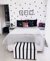 Sweet black and white youth room with a clear design – Sweet girl of youth … …