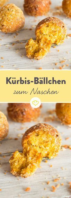 The light orange pumpkin balls convince with nutty-buttery taste and …