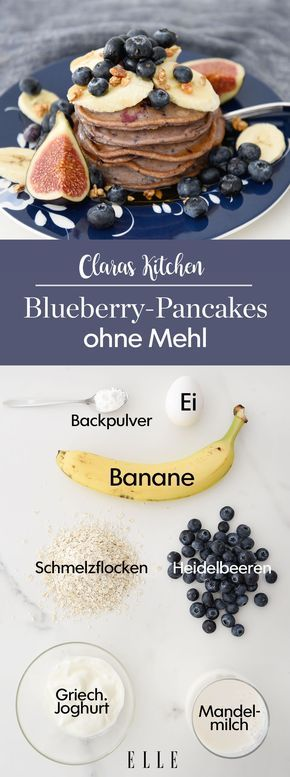 The perfect weekend breakfast: healthy blueberry pancakes with bananas #recipes …