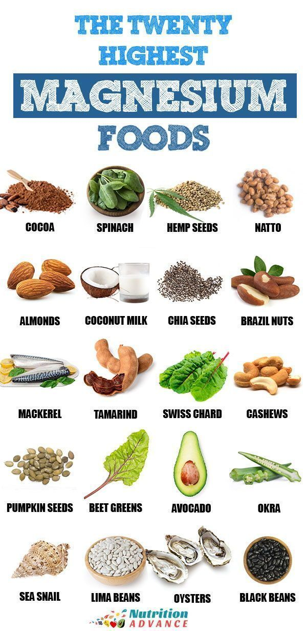 The top 20 foods with a high magnesium content