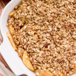 This Healthy Apple Crisp recipe is gluten/dairy free, and sweetened with just ma...