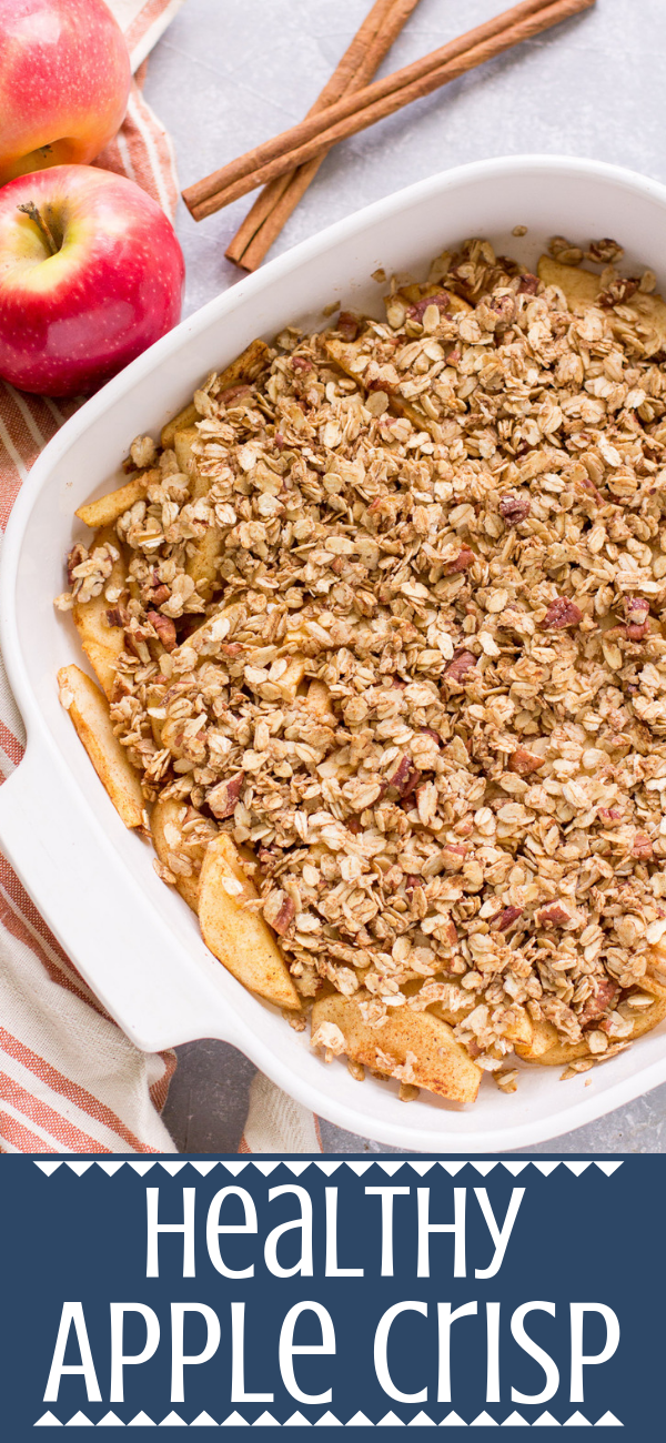 This Healthy Apple Crisp recipe is gluten/dairy free, and sweetened with just ma…