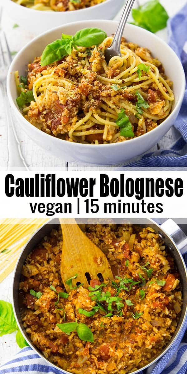 This cauliflower Bolognese sauce is not only super easy to make but it's also in…