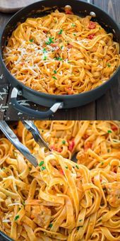 This elegant and creamy Pasta with Chicken and  Roasted Pepper Sauce is made in …