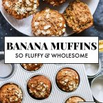 This healthy banana muffin recipe is made with whole grains, naturally sweetened...