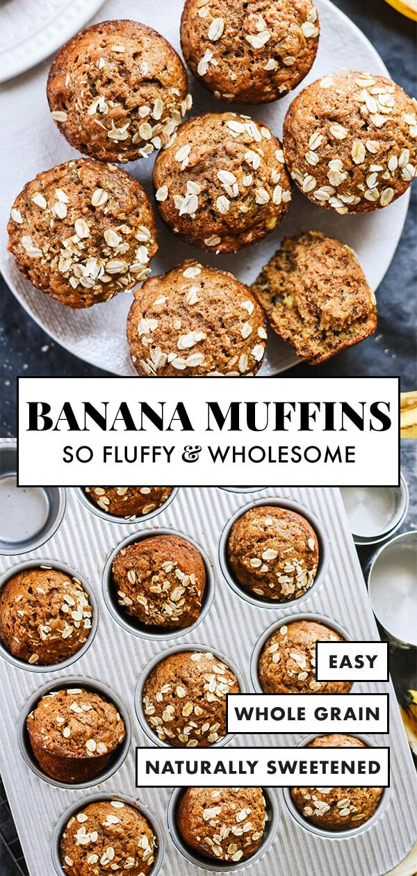 This healthy banana muffin recipe is made with whole grains, naturally sweetened…