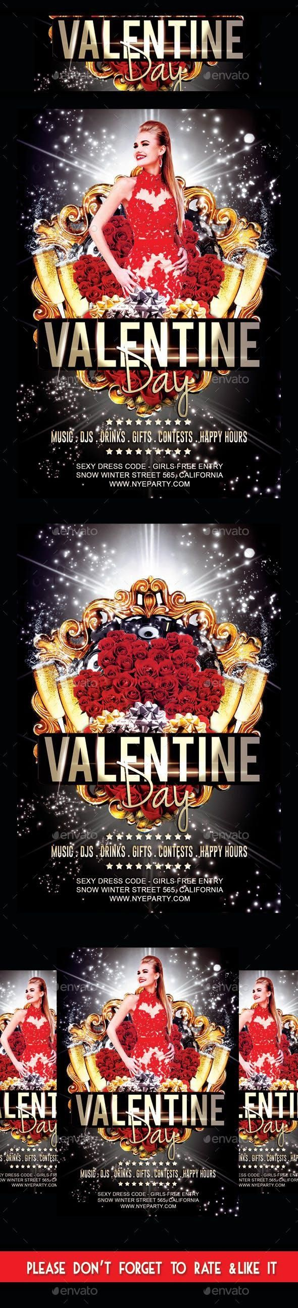 Valentine Day Party Flyer for $8 #FlyerTemplates #event #graphics #holiday #Holi…