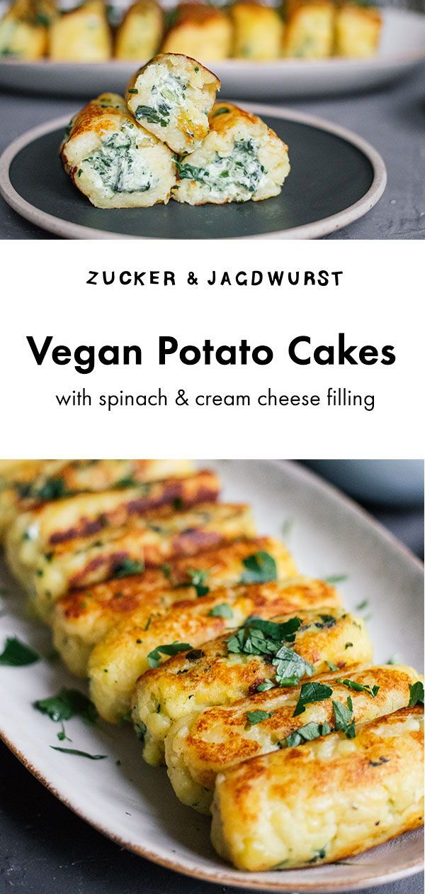 Vegan Potato Cakes with cream cheese filling #leftover #easy #mashed #vegetables…