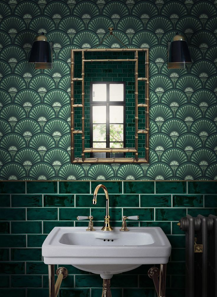 Why not a little bit of drama? Especially small bathrooms are suitable for mut …