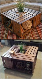 diy furniture home ideas make your own table from wine boxes gray sofa